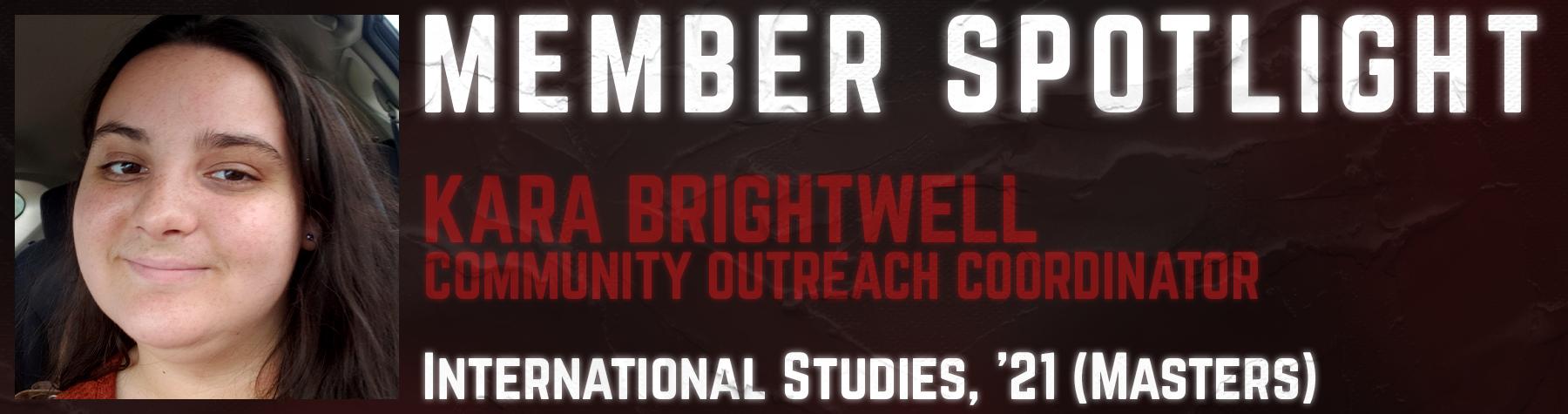 Student Spotlight: Kara Brightwell